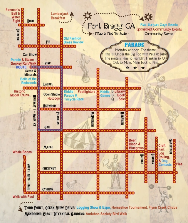 Event Schedule And Map Paul Bunyan Days - Paul bunyan in us map